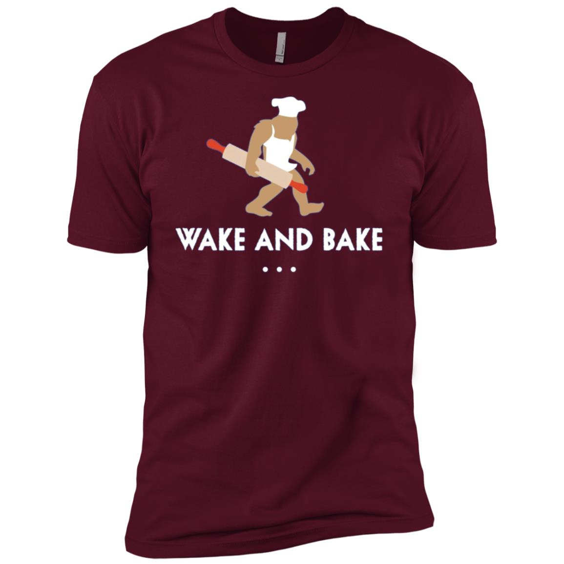 Baking Bigfoot Wake And Bake Baker Gift Men Short Sleeve T-Shirt