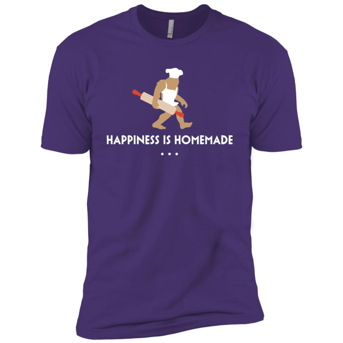 Baking Bigfoot Happiness Is Homemade Baker Gift Men Short Sleeve T-Shirt