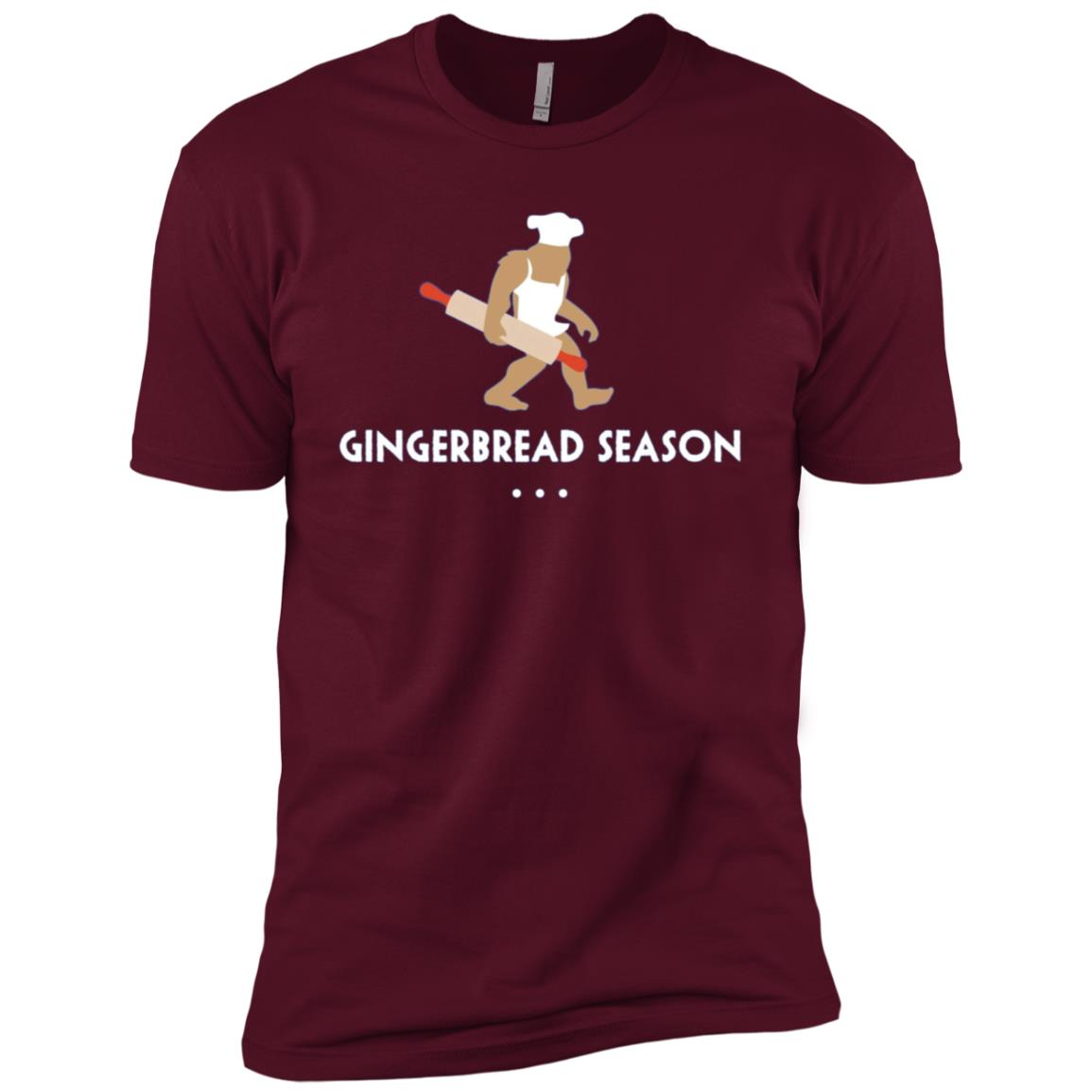Baking Bigfoot Gingerbread Season Baker Gift Men Short Sleeve T-Shirt