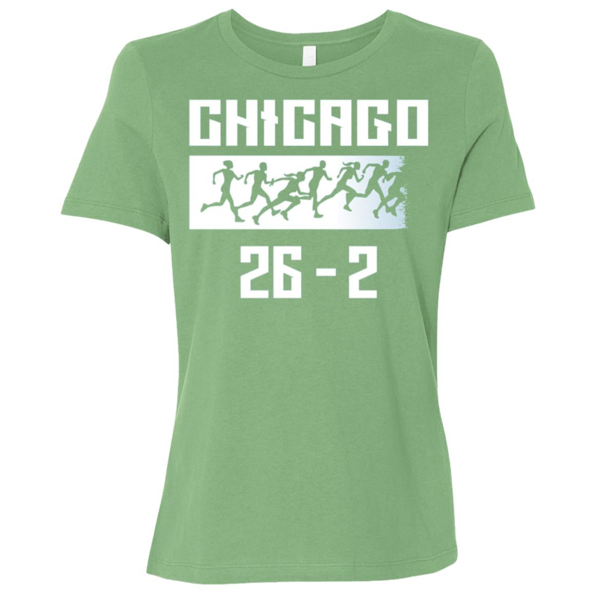 Chicago 26.2 miles Marathon Running Runner Women Short Sleeve T-Shirt