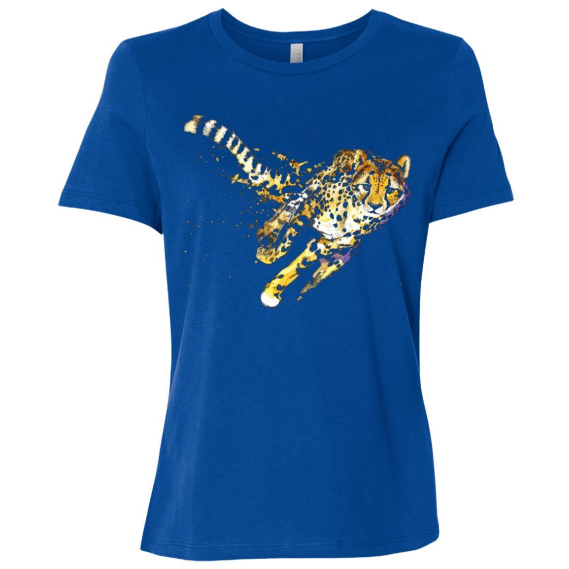 Cheetah Cool Design Running Cheetah Gift Tee Women Short Sleeve T-Shirt