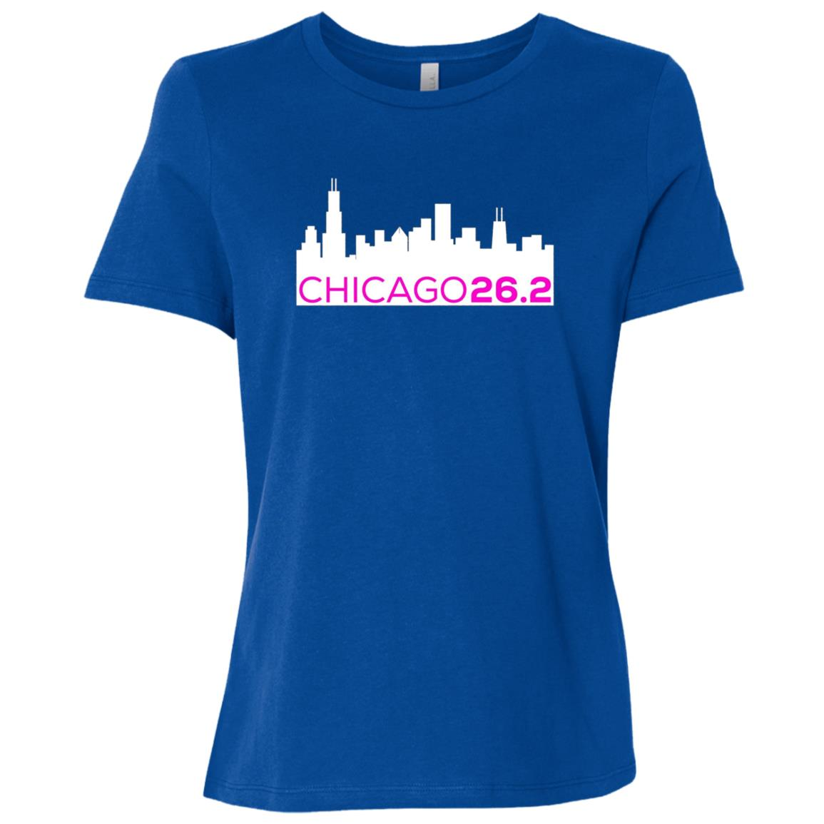 Chicago 26.2 Marathon for Marathoners – PINK Women Short Sleeve T-Shirt