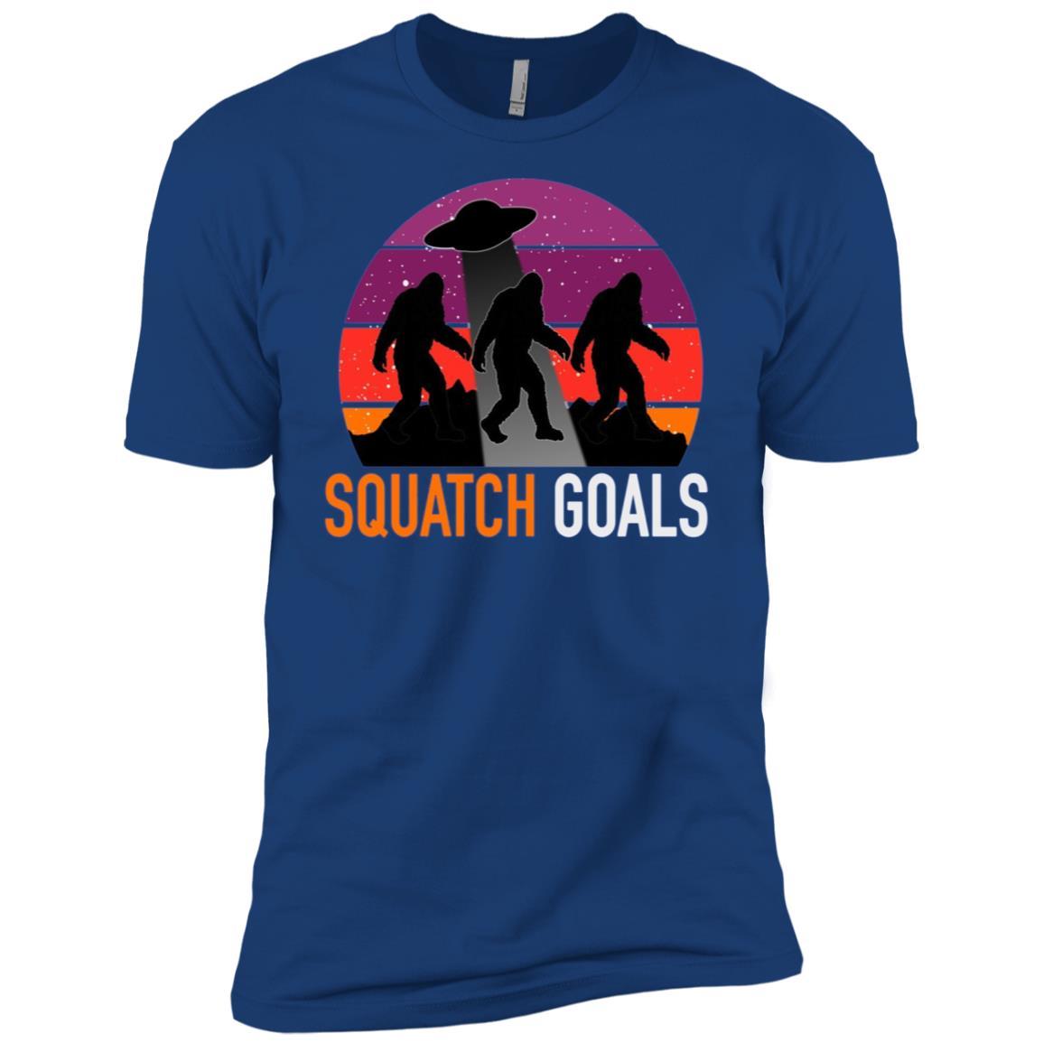BigFoot Alien Abduction Sasquatch Goals Tee-3 Men Short Sleeve T-Shirt