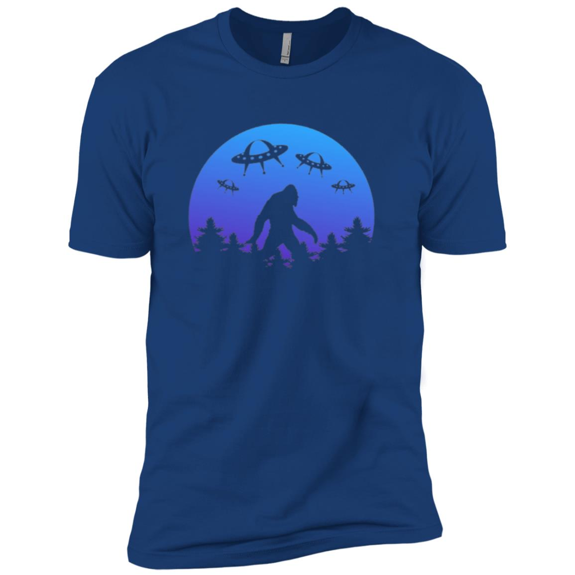 Bigfoot Abduction Funny UFO Alien Men Short Sleeve T-Shirt