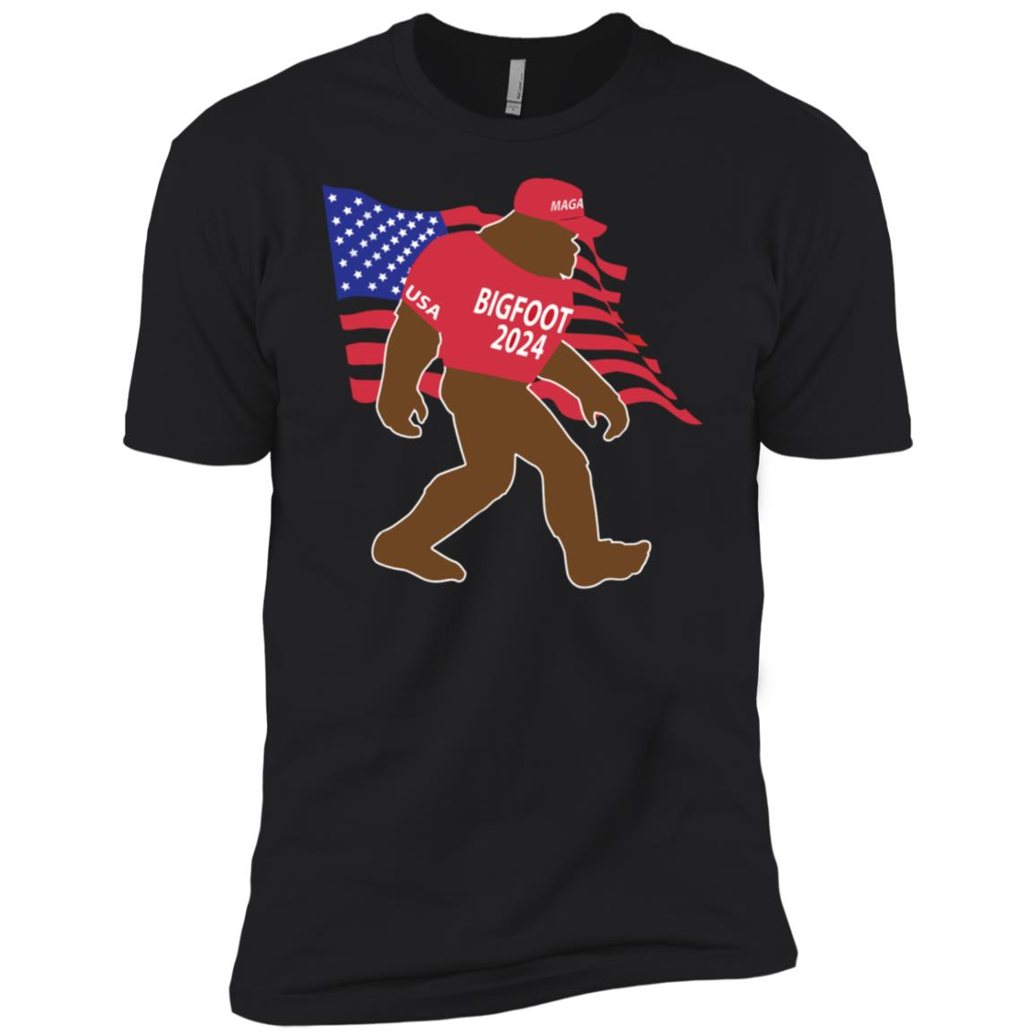 Bigfoot 2024 MAGA Hat Trump Republican USA Men Short Sleeve T-Shirt