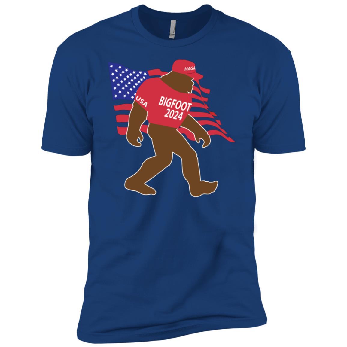 Bigfoot 2024 MAGA Hat Trump Republican USA Men Short Sleeve T-Shirt