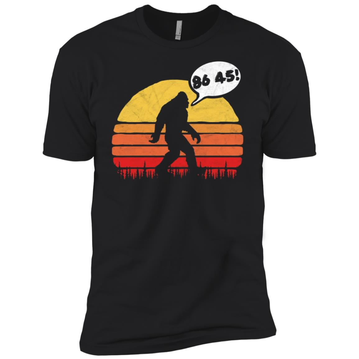 Bigfoot 86 45 Sasquatch Anti-Trump Vintage Men Short Sleeve T-Shirt