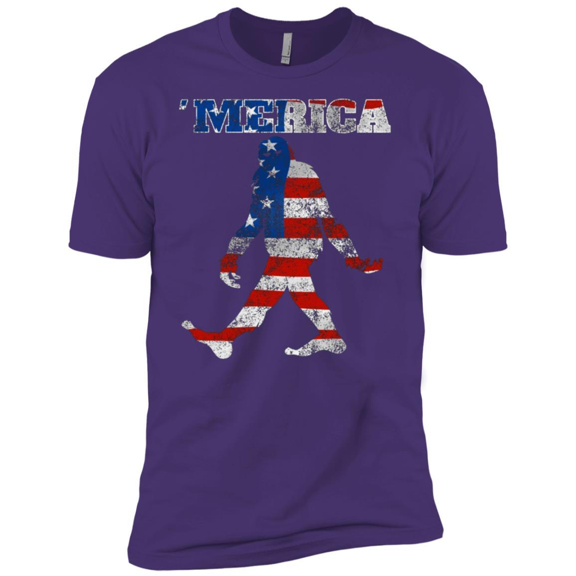 Bigfoot 4th of July Sasquatch -1 Men Short Sleeve T-Shirt