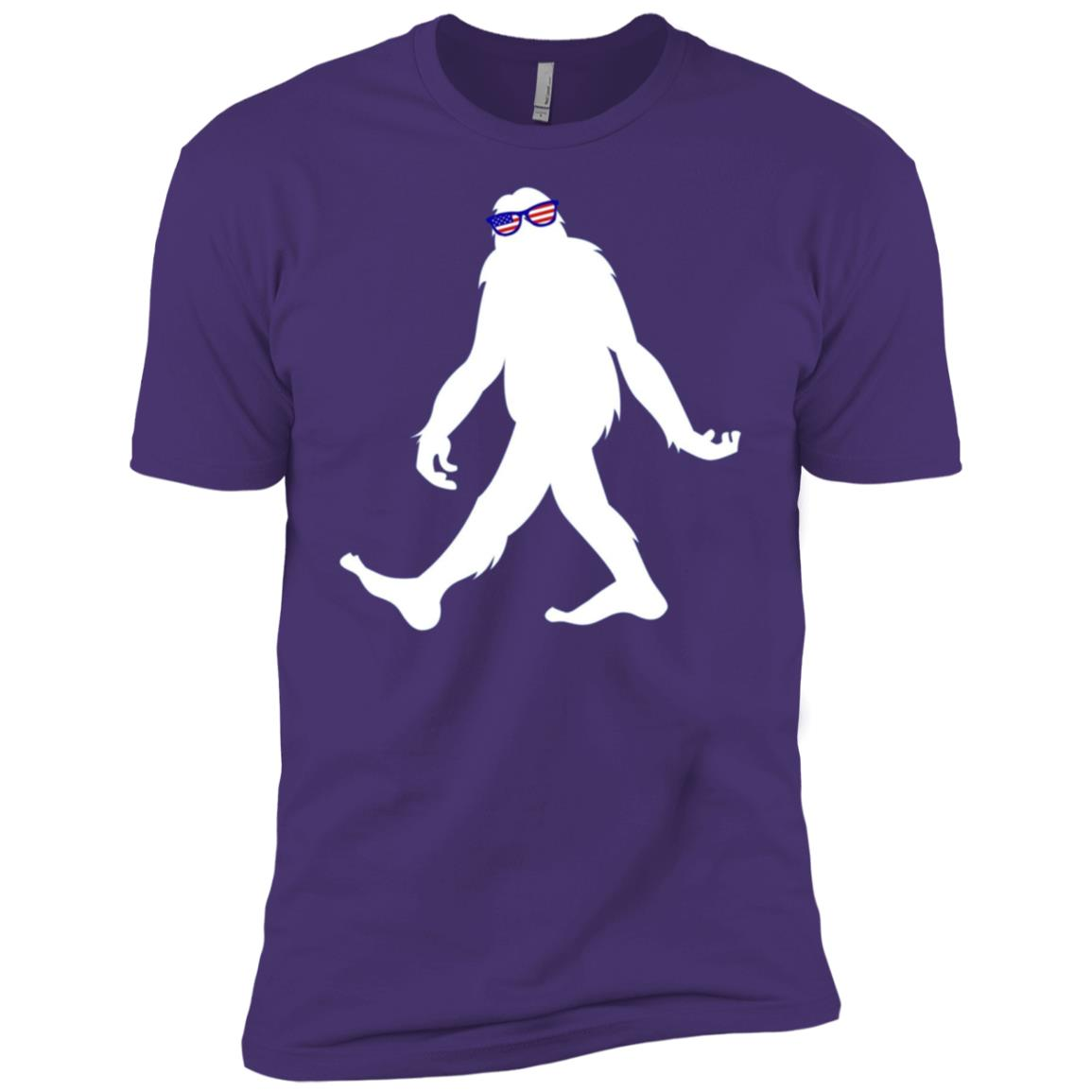Bigfoot 4th of July Sasquatch Men Short Sleeve T-Shirt