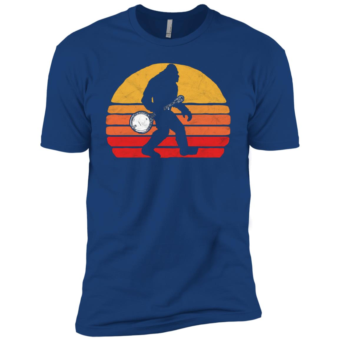 Bigfoot & Banjo Bluegrass Sasquatch Men Short Sleeve T-Shirt