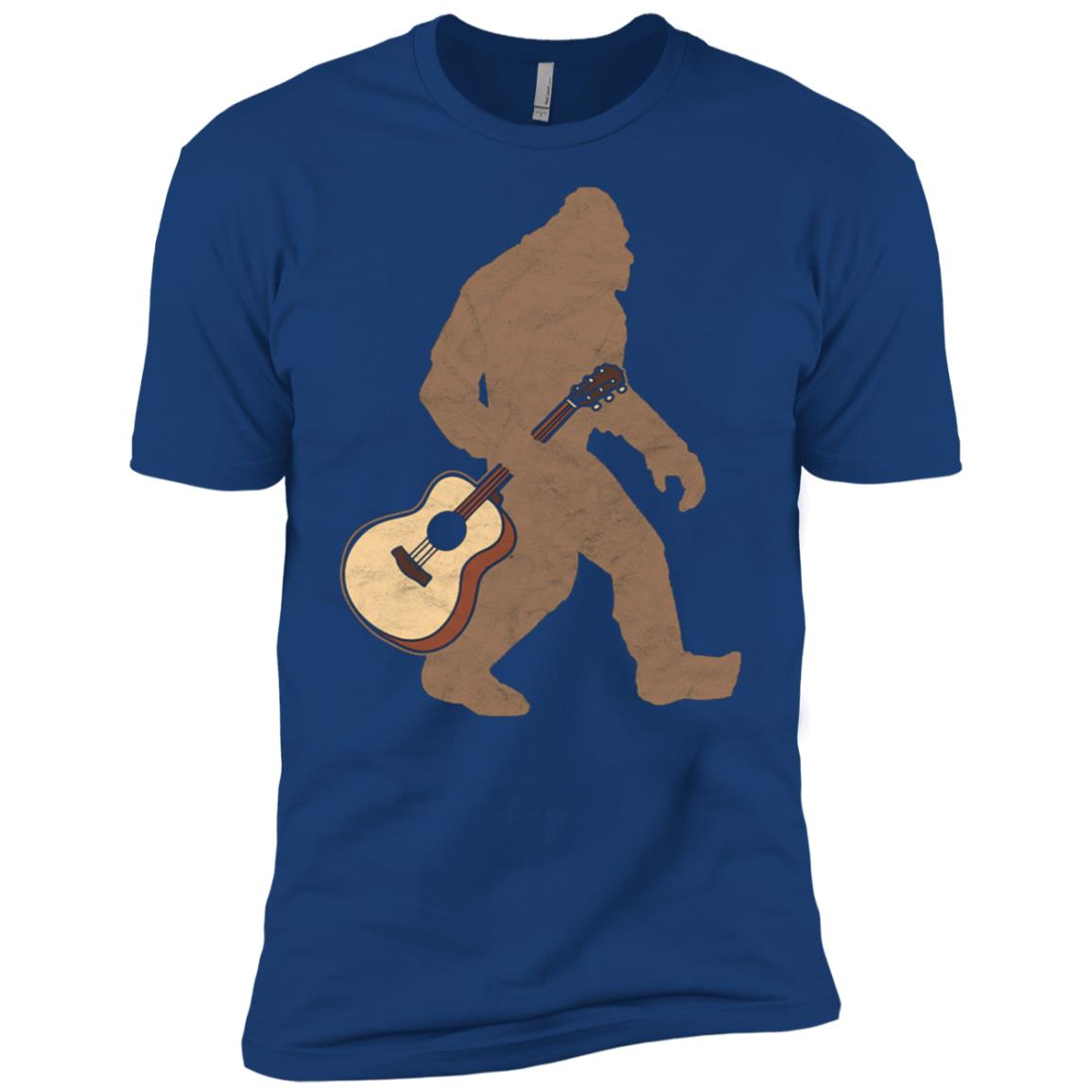 Bigfoot & Acoustic Guitar Country Men Short Sleeve T-Shirt
