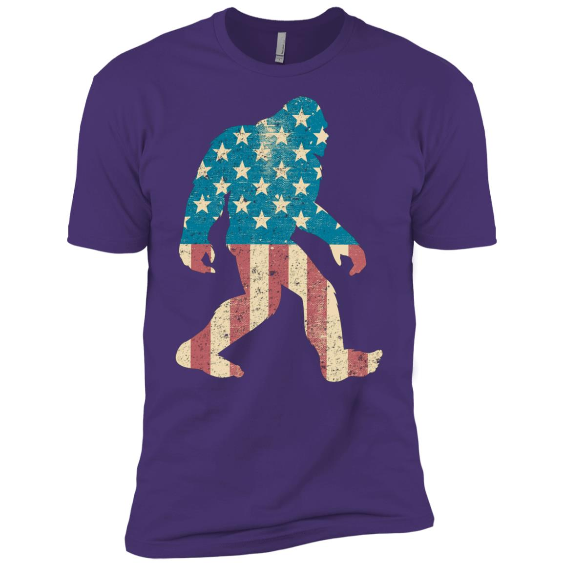 Bigfoot – Sasquatch American Flag Men Short Sleeve T-Shirt