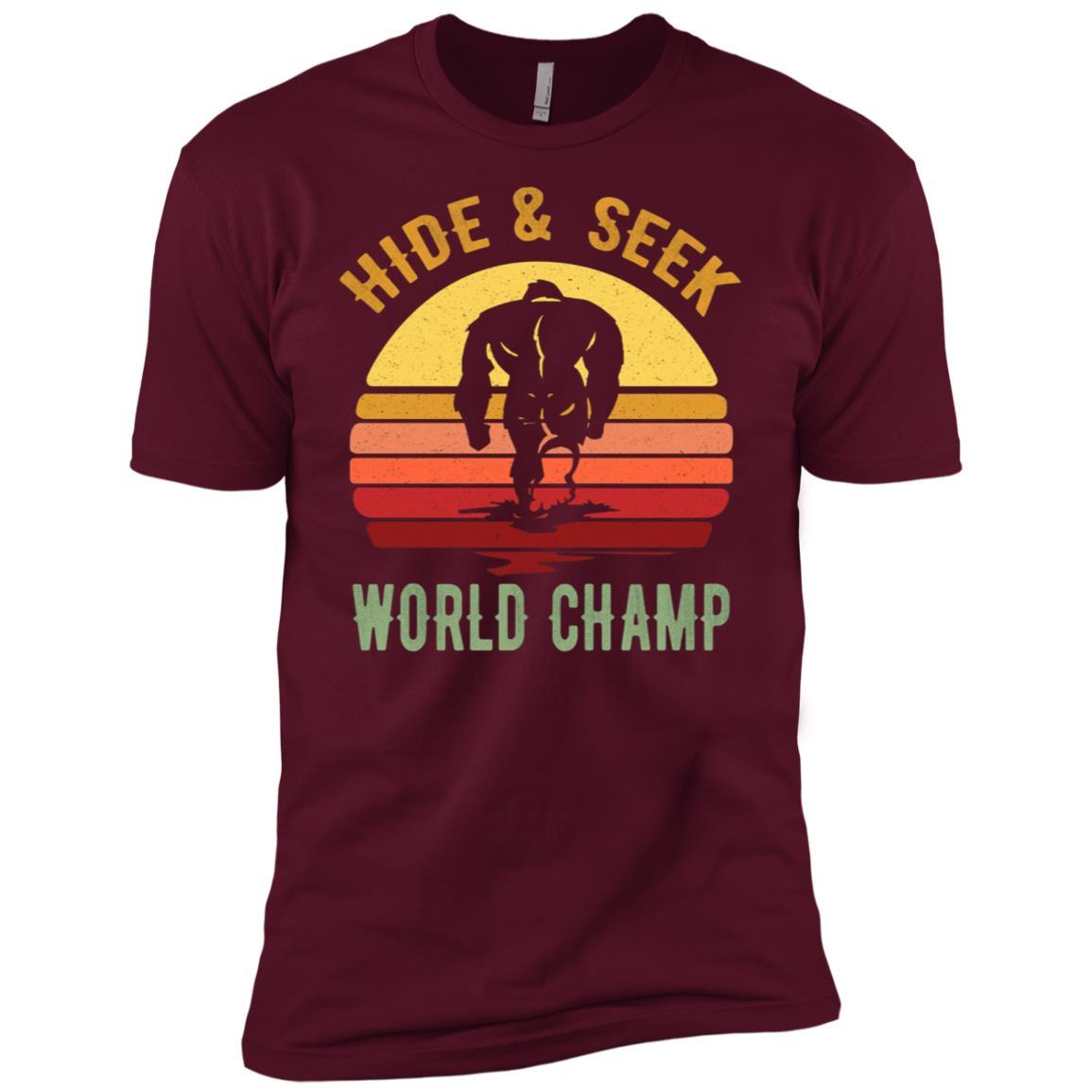 Bigfoot – Hide & Seek Sasquatch Yeti Gift Men Short Sleeve T-Shirt