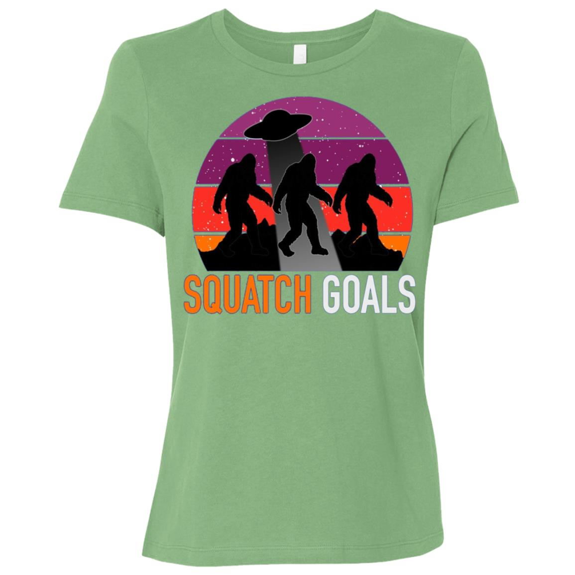 BigFoot Alien Abduction Sasquatch Goals Tee-3 Women Short Sleeve T-Shirt