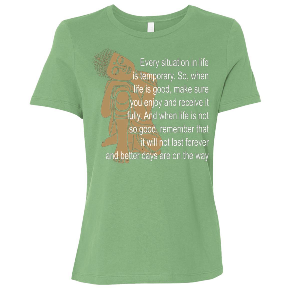 Buddha Buddism Quotes Meditation Women Short Sleeve T-Shirt