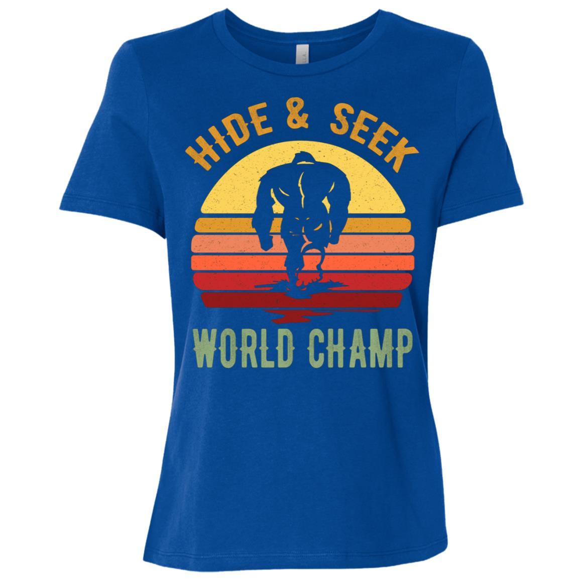 Bigfoot – Hide & Seek Sasquatch Yeti Gift Women Short Sleeve T-Shirt