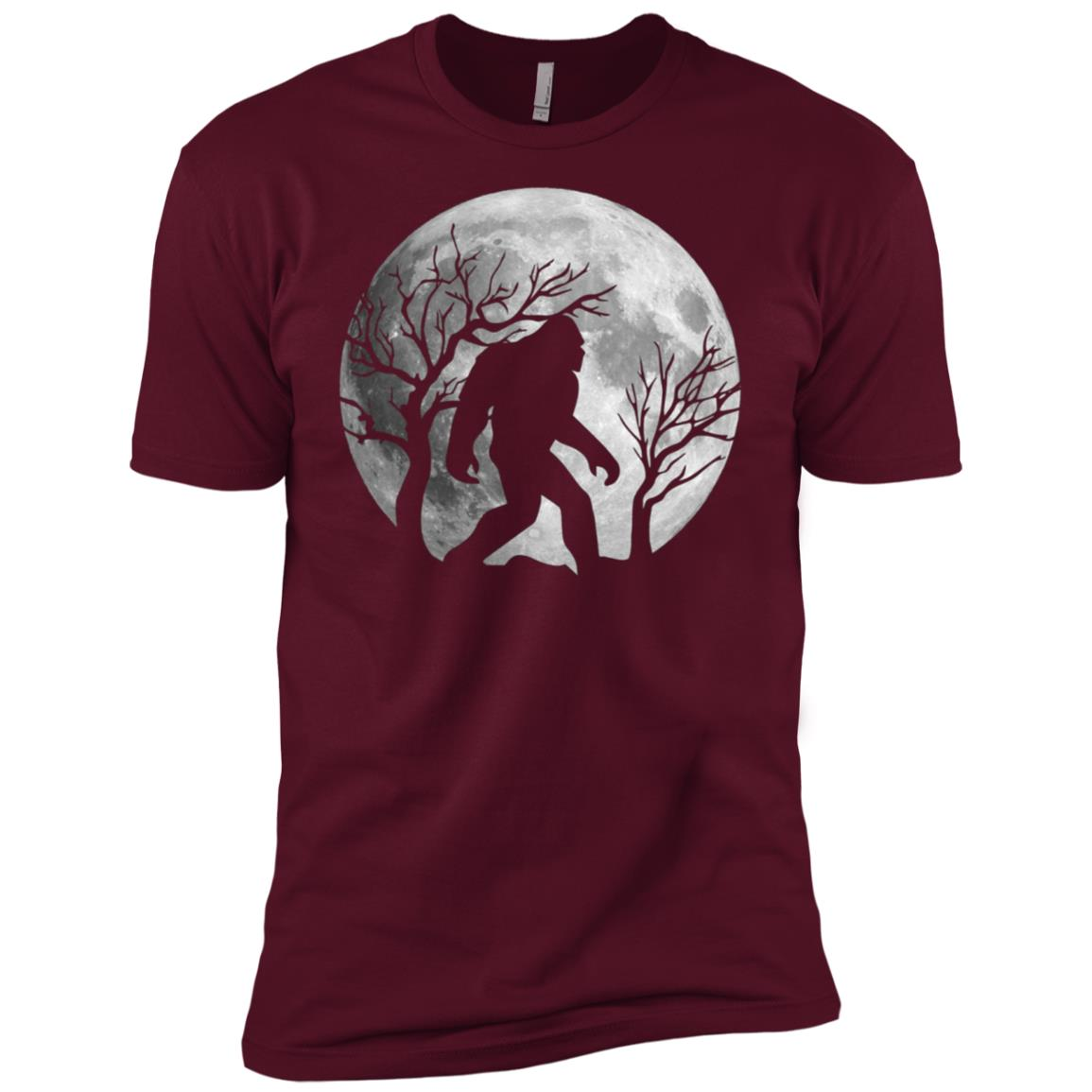 Bigfoot Bigfoot Sasquatch Full moon Yeti Funny-1 Men Short Sleeve T-Shirt