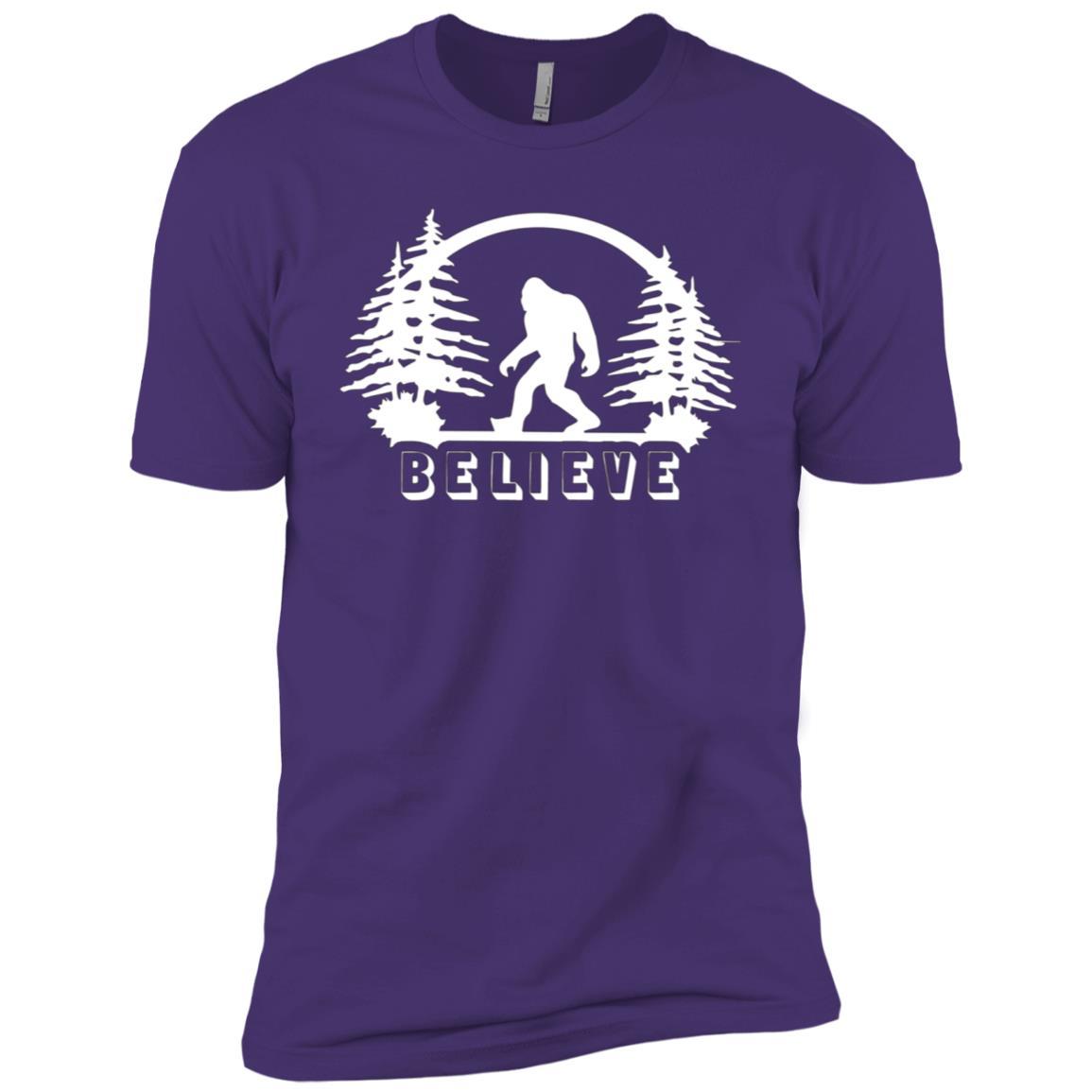 Bigfoot Believe Bigfoot Sasquatch Yeti Lover Gift Men Short Sleeve T-Shirt