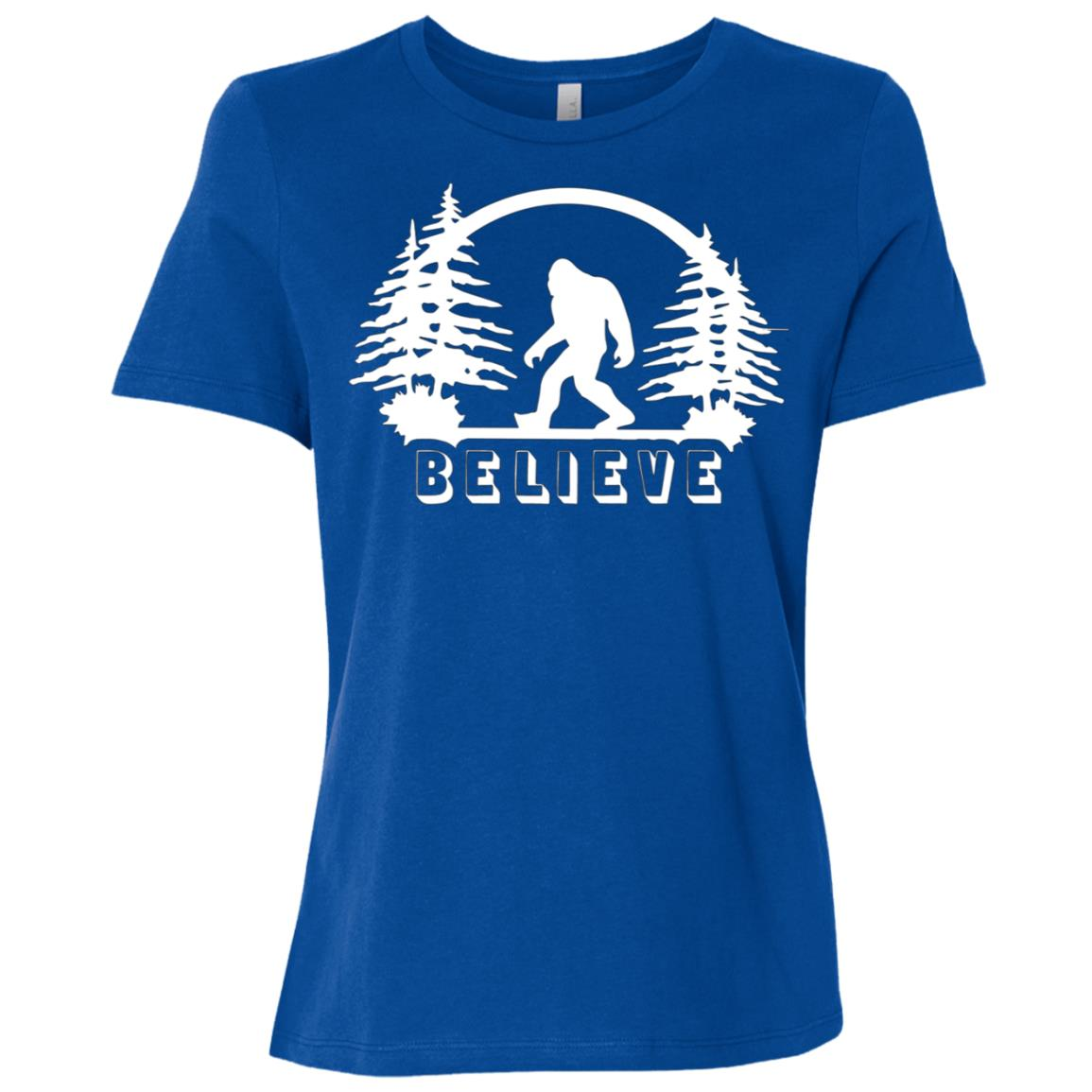 Bigfoot Believe Bigfoot Sasquatch Yeti Lover Gift Women Short Sleeve T-Shirt