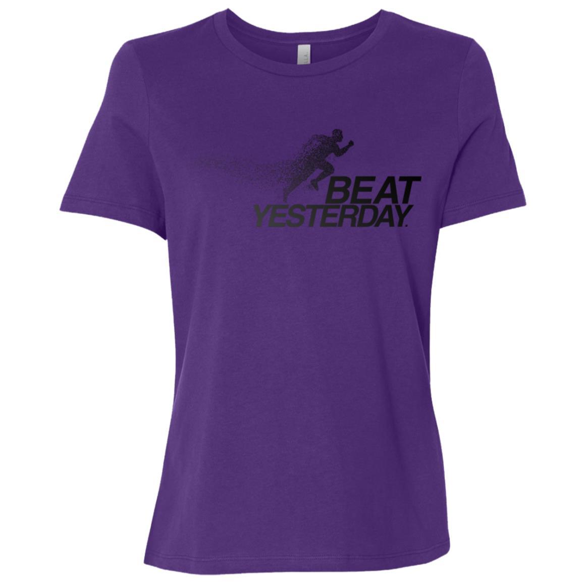 Beat yesterday running Women Short Sleeve T-Shirt
