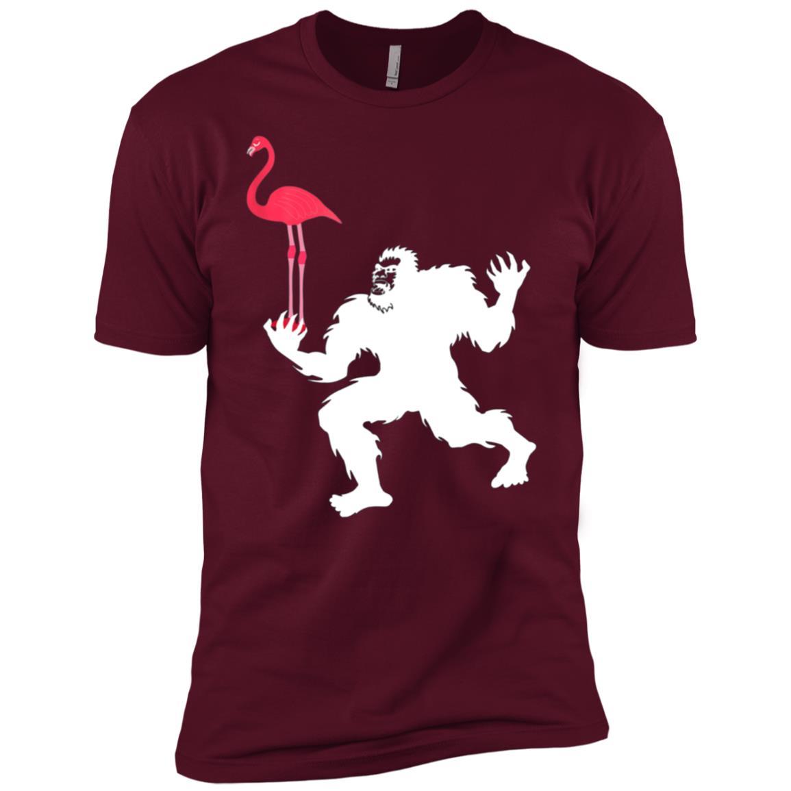 bigfoot flamingo – flamingo bigfoot Men Short Sleeve T-Shirt