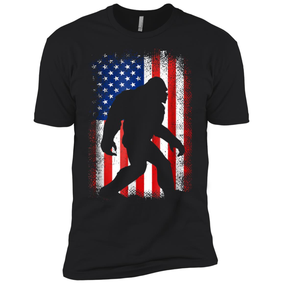 Bigfoot Flag USA Is Real Men Short Sleeve T-Shirt