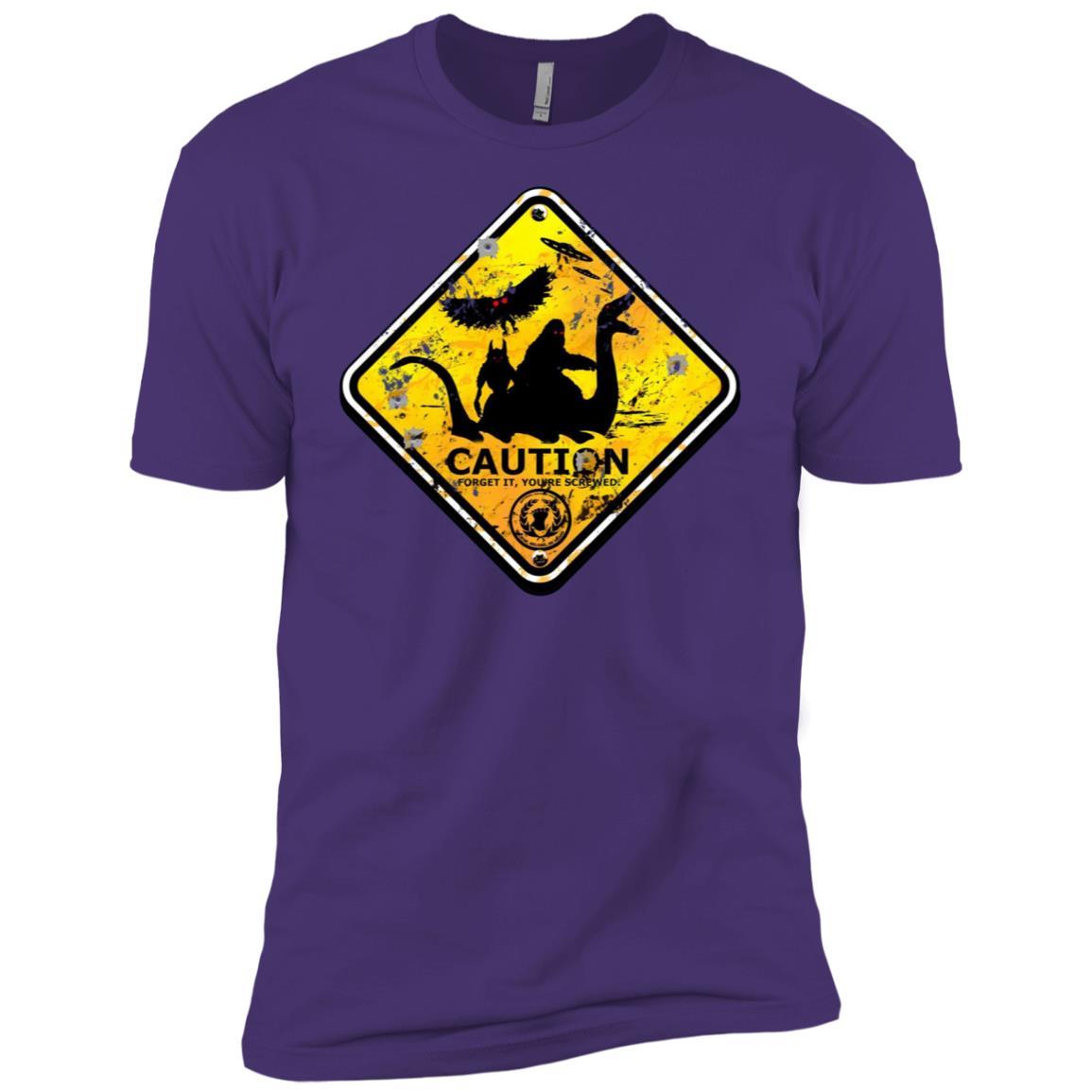 Bigfoot Dogman Mothman Sea Monster Alien UFO Funny -1 Men Short Sleeve T-Shirt