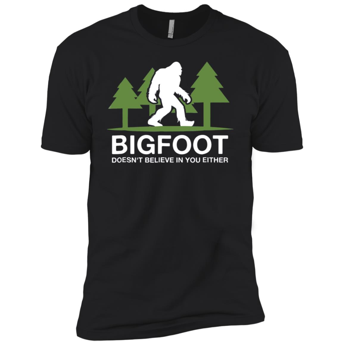Bigfoot Doesn't Believe In You Either Funny Men Short Sleeve T-Shirt