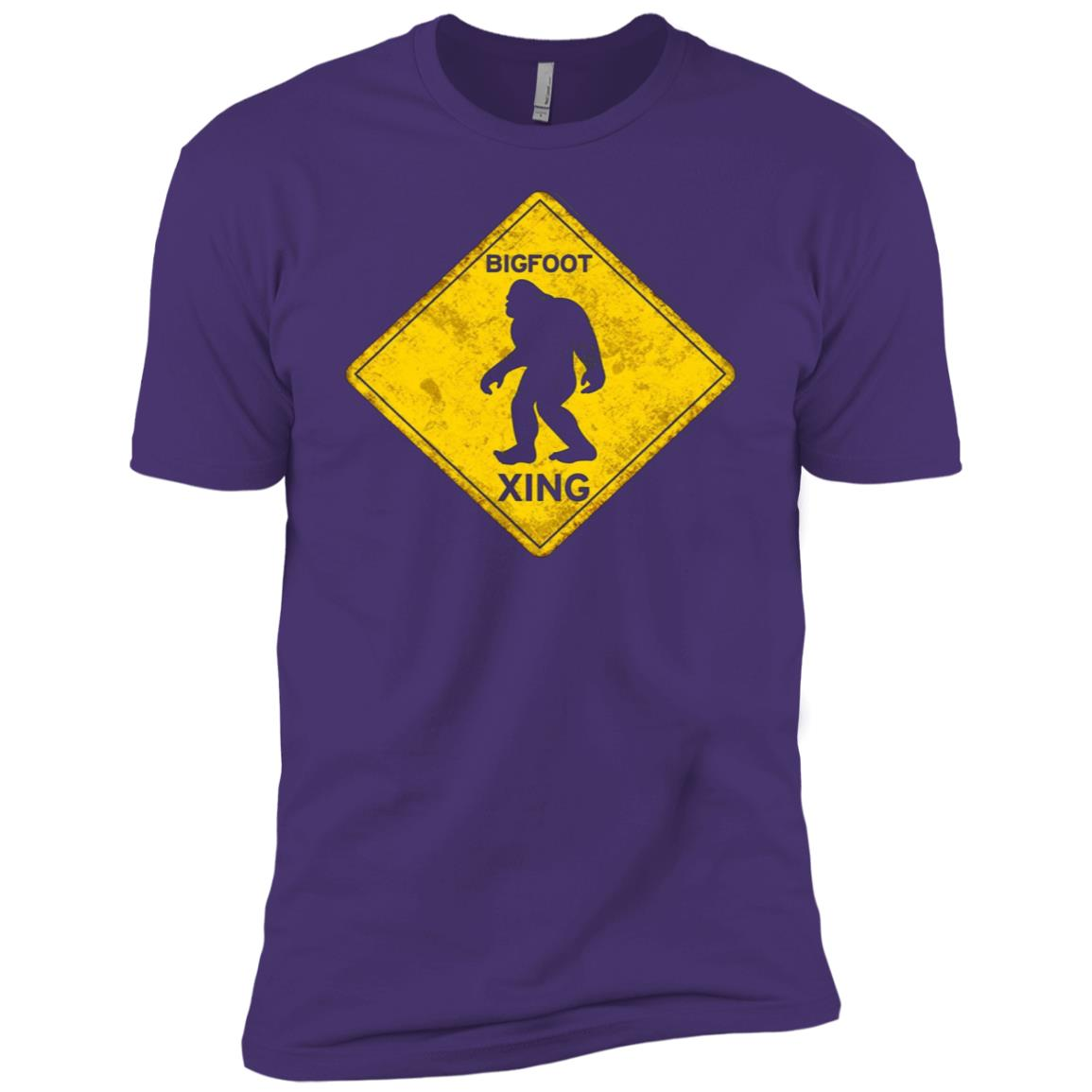 Bigfoot Crossing Xing Vintage Old Rusted Sign Novelty Tee Men Short Sleeve T-Shirt