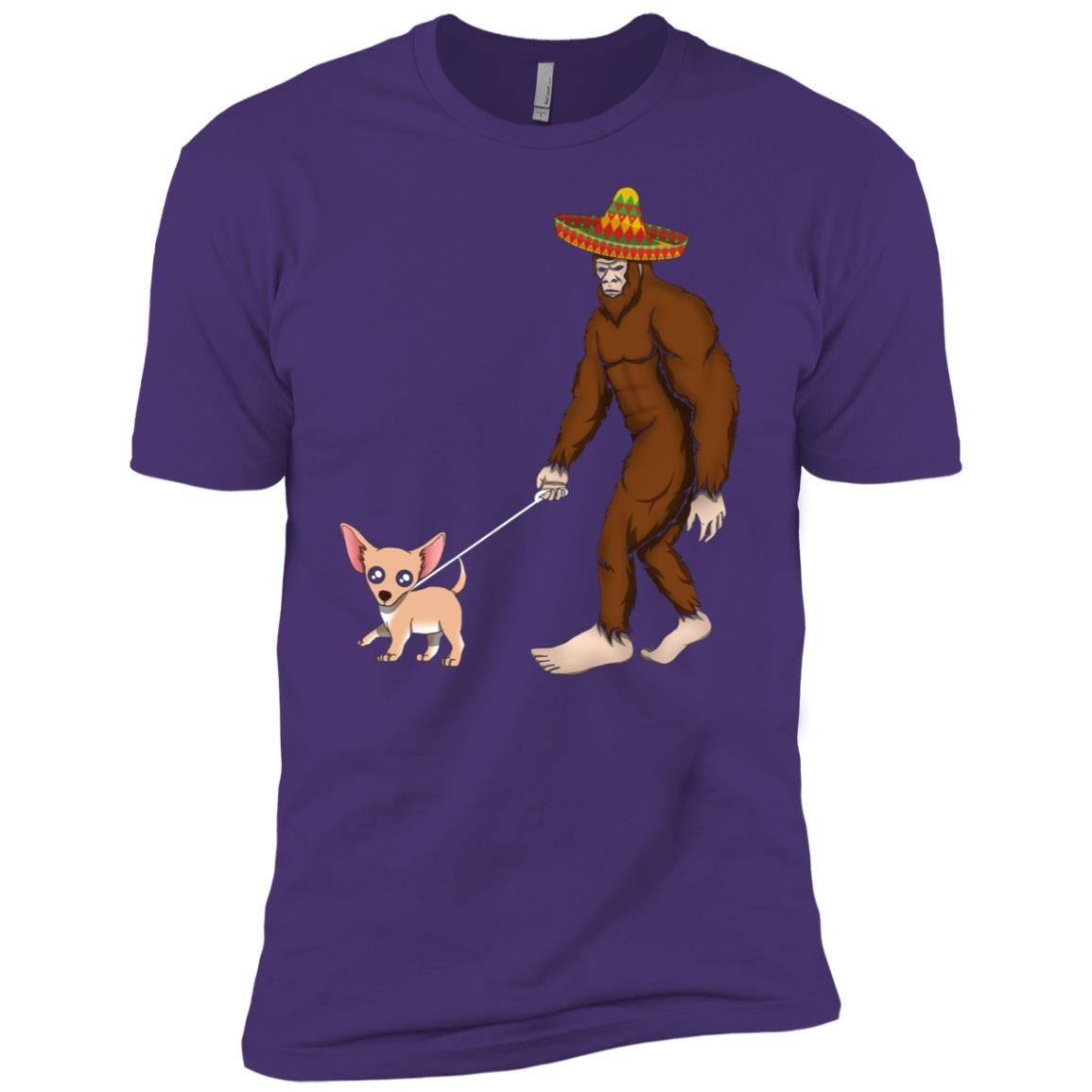 Bigfoot Chihuahua Dog Lover Dad Mom Cinco De Mayo Gift Men Short Sleeve T-Shirt