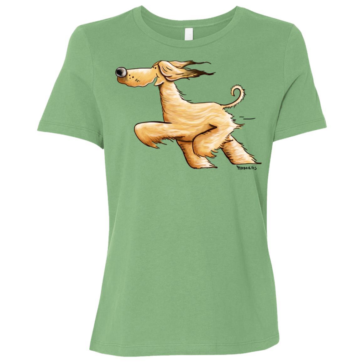 Awesome Running Afghan Hound Women Short Sleeve T-Shirt