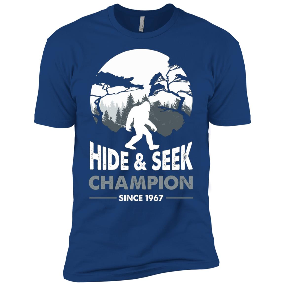 Bigfoot Hide and Seek Champion Since 1967 Men Short Sleeve T-Shirt