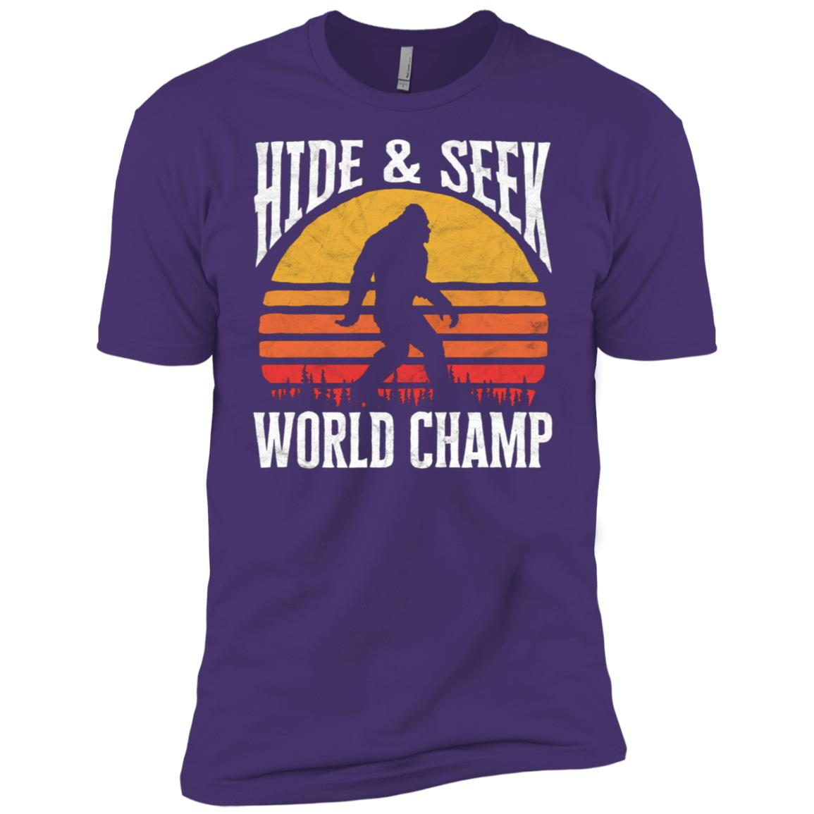 Bigfoot Hide & Seek World Champ Silhouette Men Short Sleeve T-Shirt