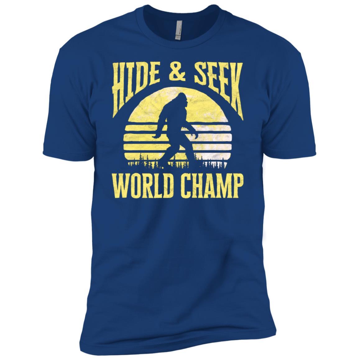 Bigfoot Hide & Seek World Champ Moon Men Short Sleeve T-Shirt