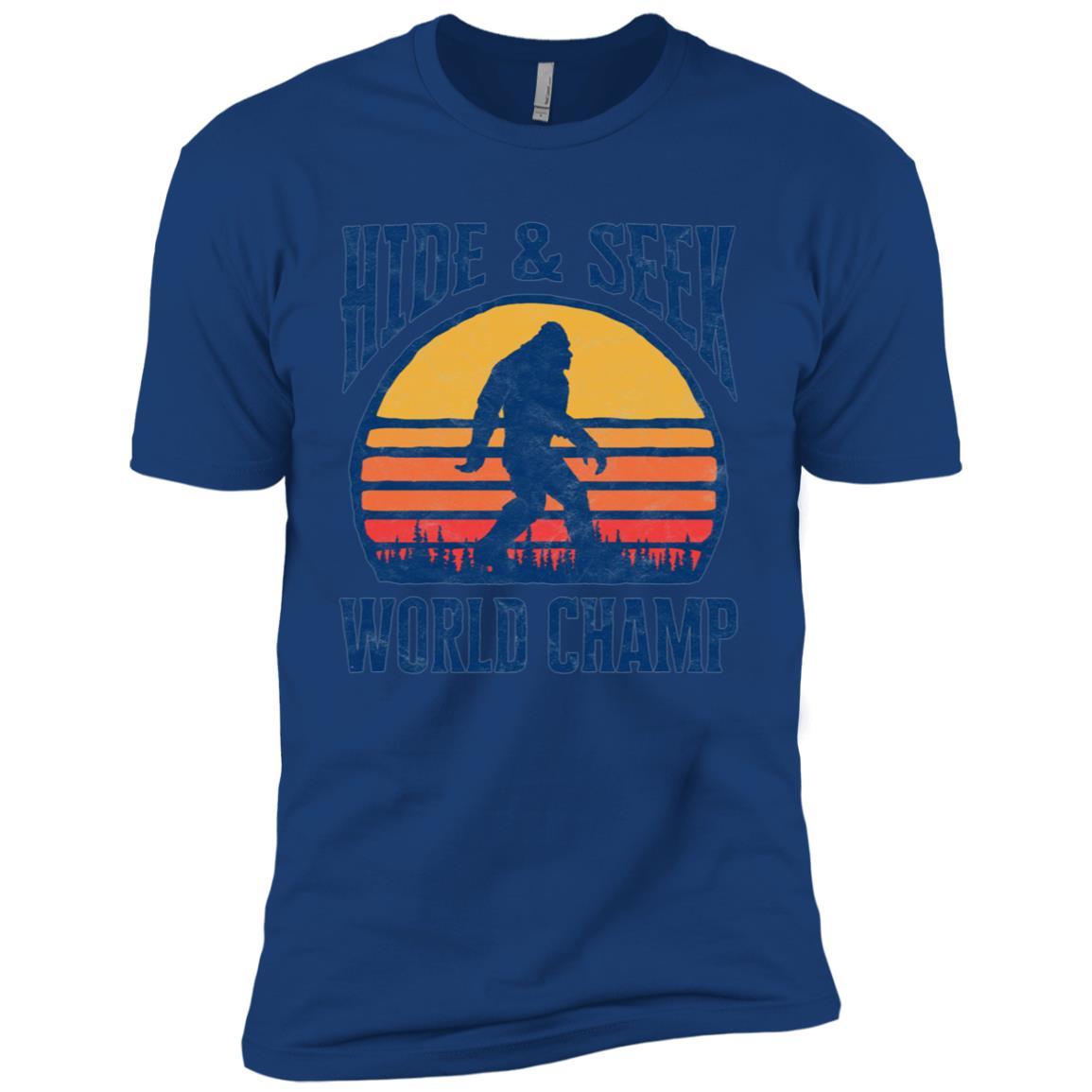 Bigfoot Hide & Seek World Champ Funny Men Short Sleeve T-Shirt