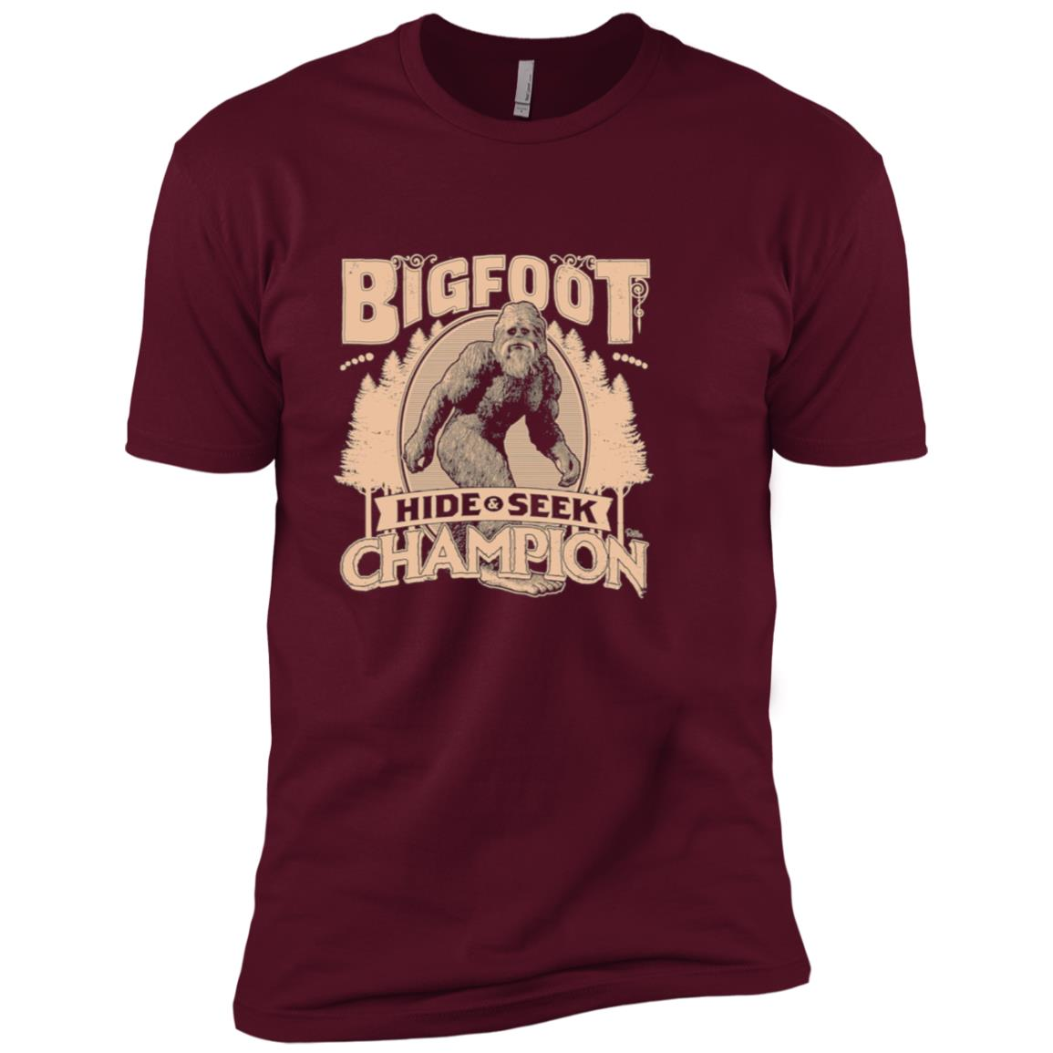 Bigfoot Hide & Seek Champion Men Short Sleeve T-Shirt