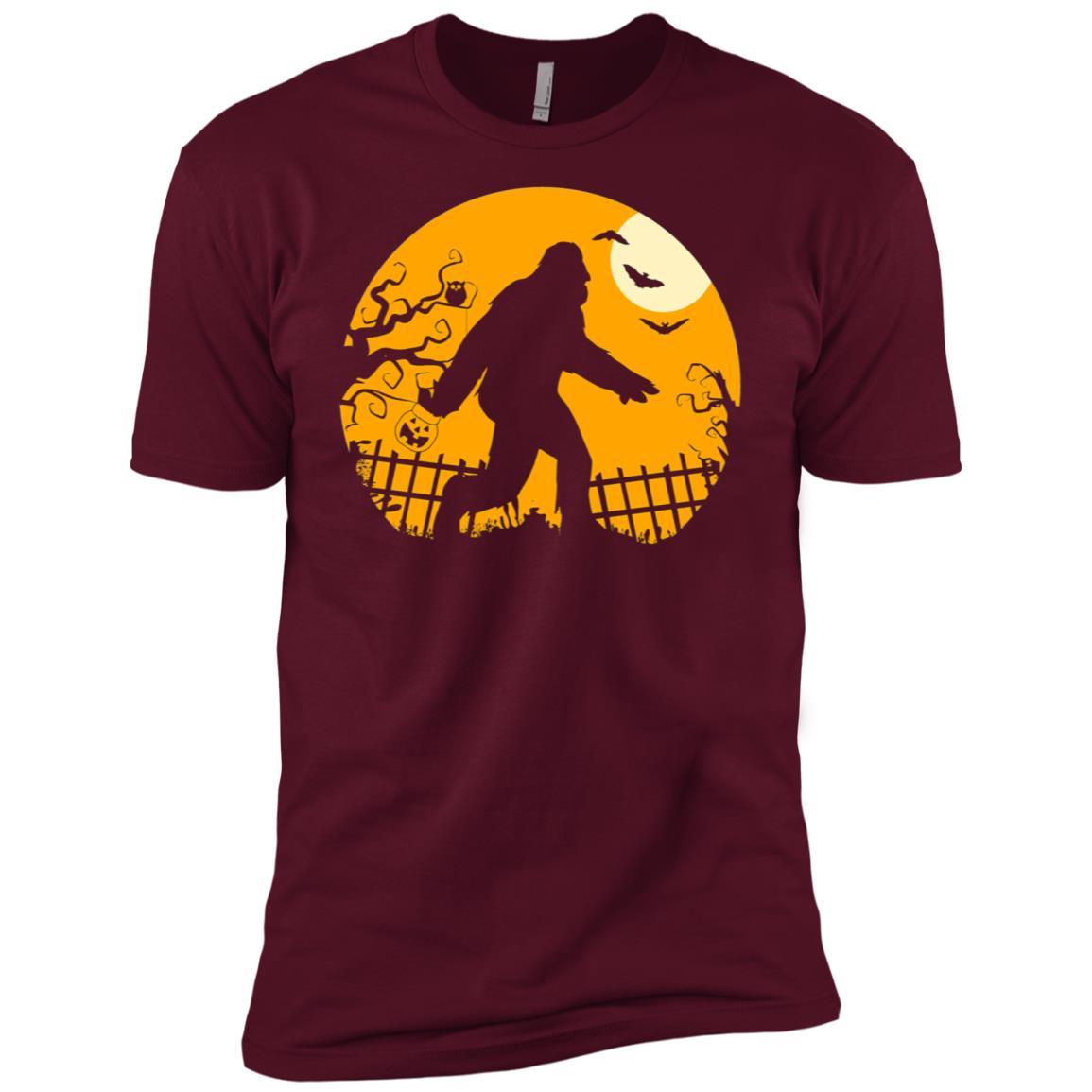 Bigfoot Halloween Funny Cool Novelty Costume Gift Men Short Sleeve T-Shirt
