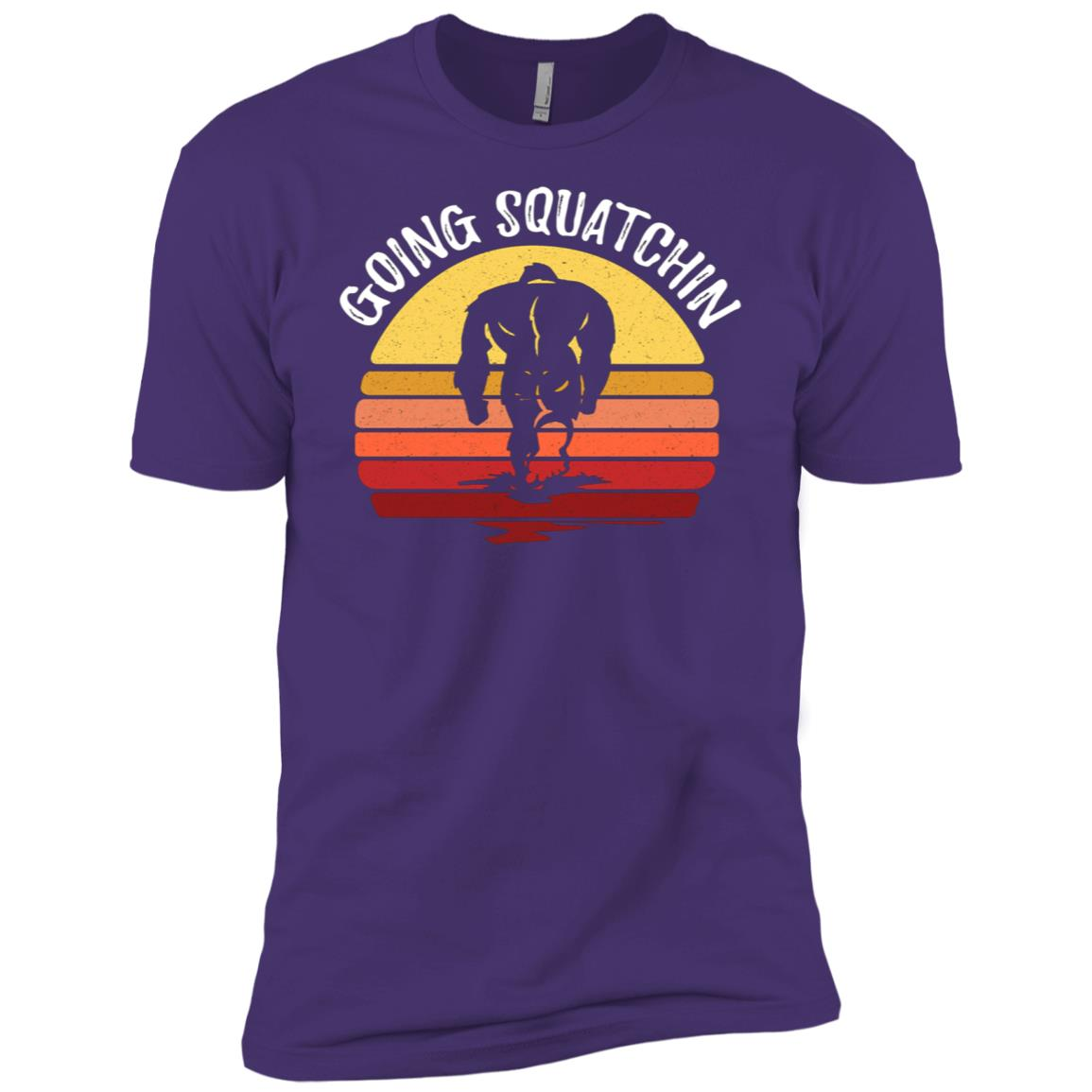 Bigfoot Going Squatchin Men Short Sleeve T-Shirt