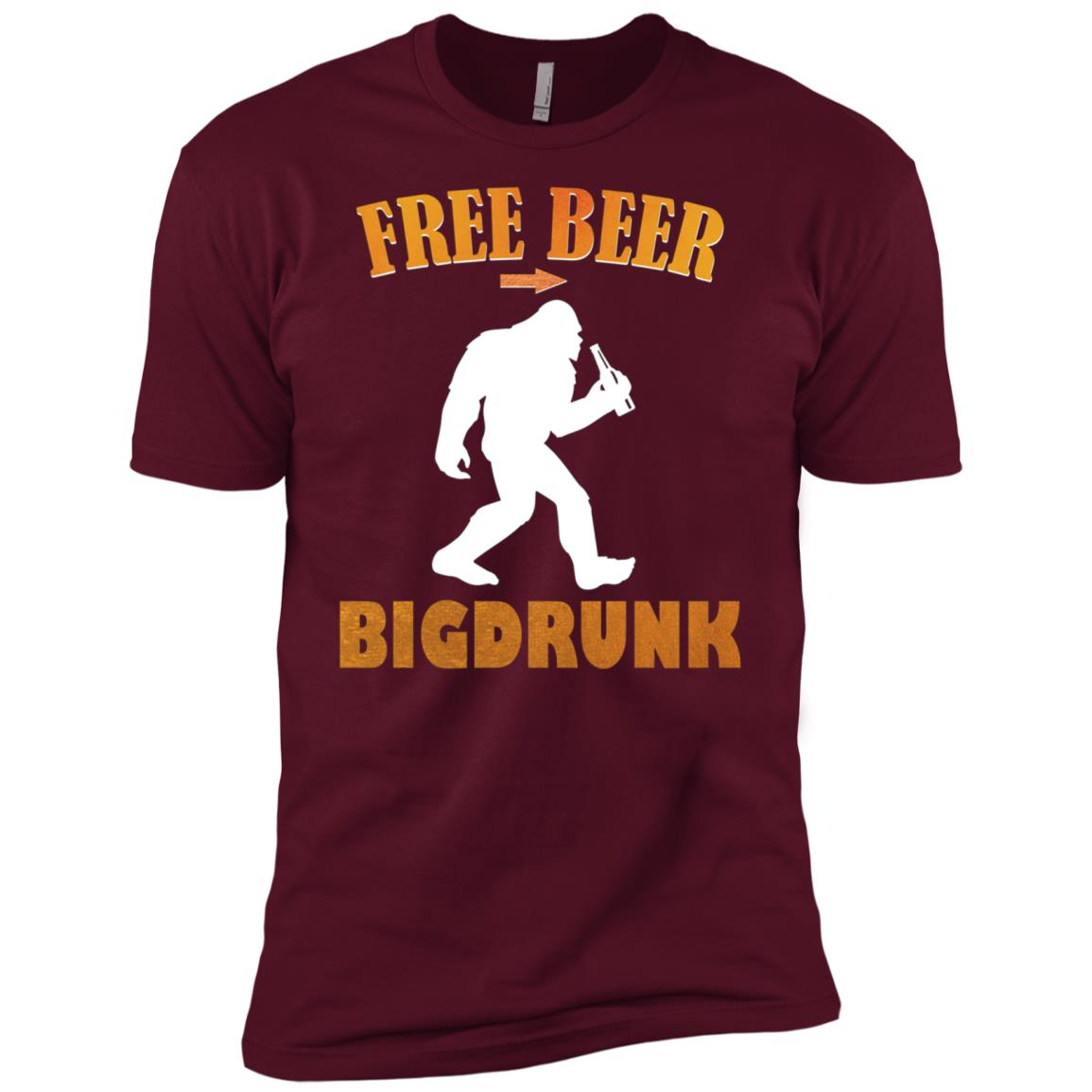 Bigfoot Funny Bigdrunk Beer Men Short Sleeve T-Shirt