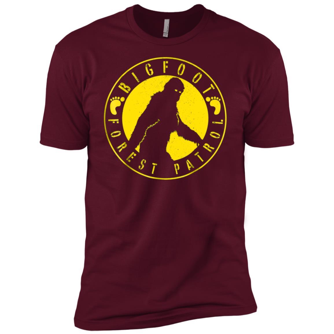 Bigfoot Forest Patrol Badge Graphic Men Short Sleeve T-Shirt