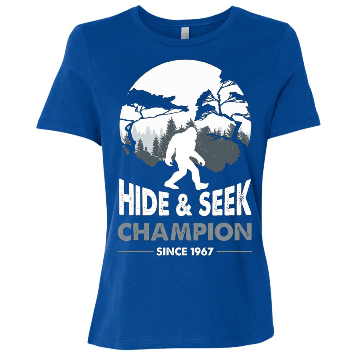 Bigfoot Hide and Seek Champion Since 1967 Women Short Sleeve T-Shirt