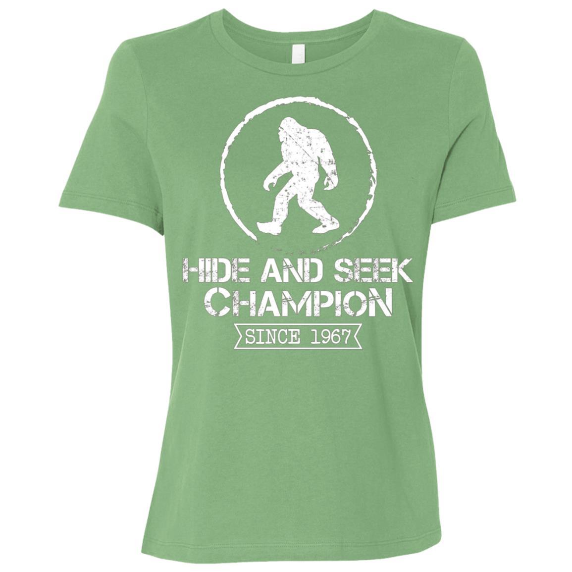 Bigfoot Hide & Seek Champion 1967 Funny Women Short Sleeve T-Shirt