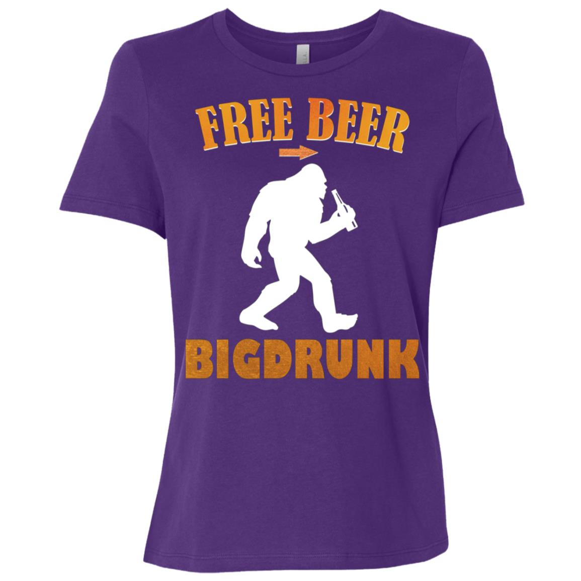Bigfoot Funny Bigdrunk Beer Women Short Sleeve T-Shirt