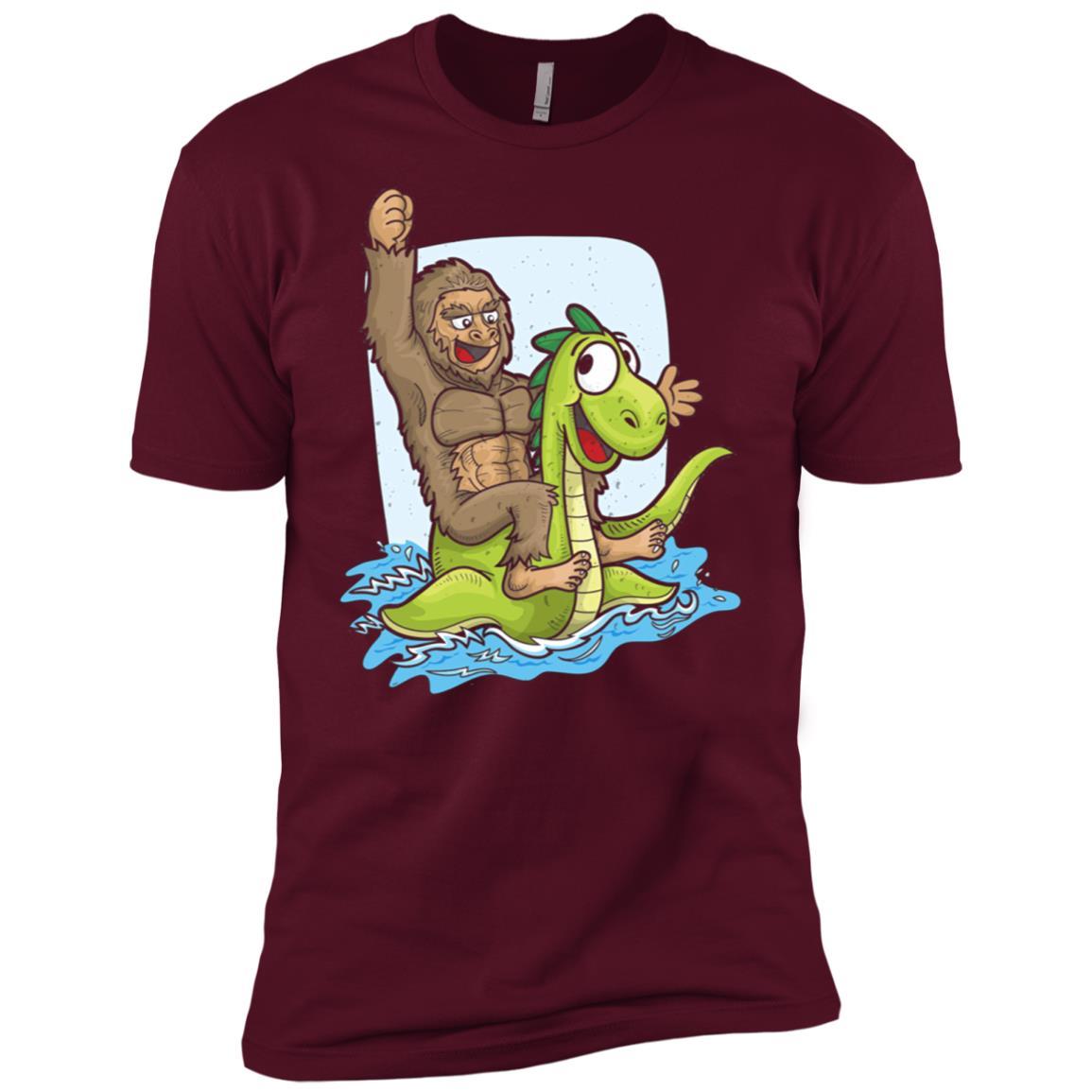 Bigfoot Nessie Big Foot Loch Ness Monster Men Short Sleeve T-Shirt