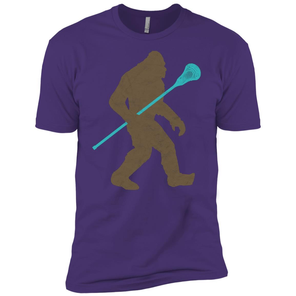 Bigfoot Lacrosse Stick Vintage Funny Lax -1 Men Short Sleeve T-Shirt