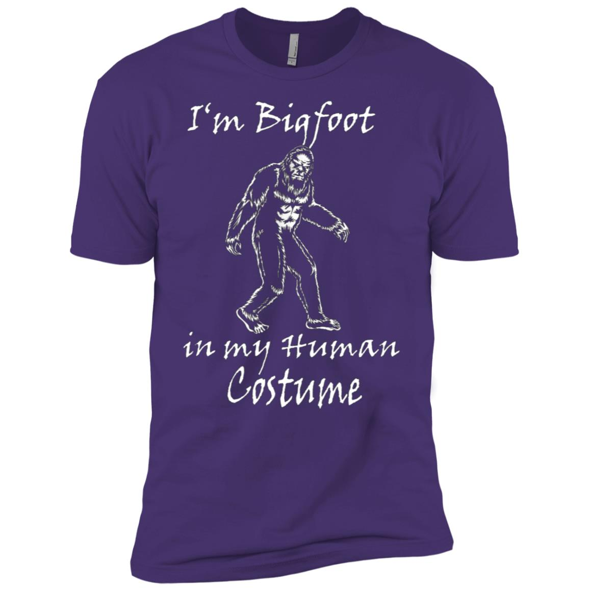 Bigfoot in my human Costume Halloween funny Men Short Sleeve T-Shirt