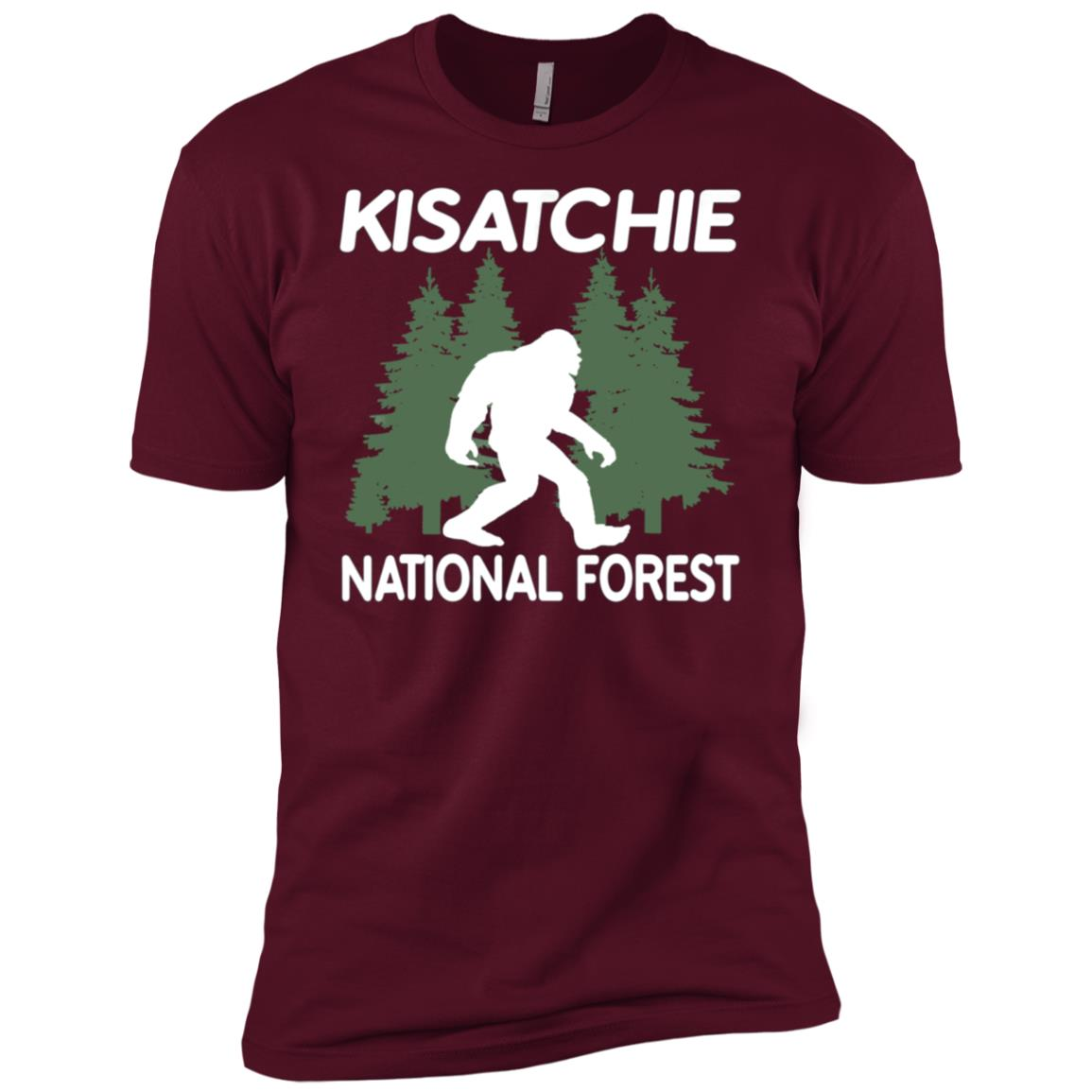 Bigfoot in Kisatchie National Forest Bigfoot Men Short Sleeve T-Shirt