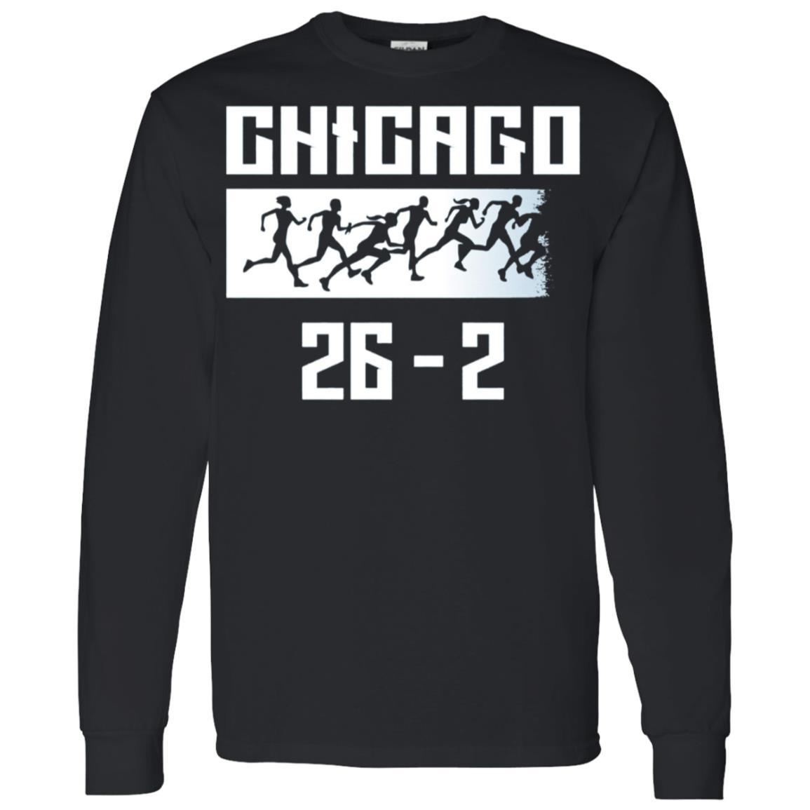 Chicago 26.2 miles Marathon Running Runner Men Long Sleeve T-Shirt