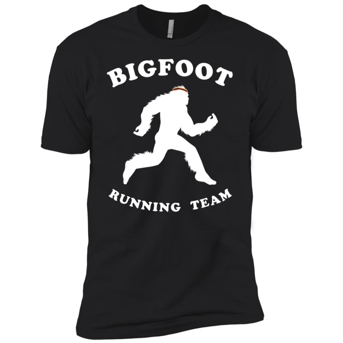 Bigfoot Runner , Running Ape Man Tee Men Short Sleeve T-Shirt