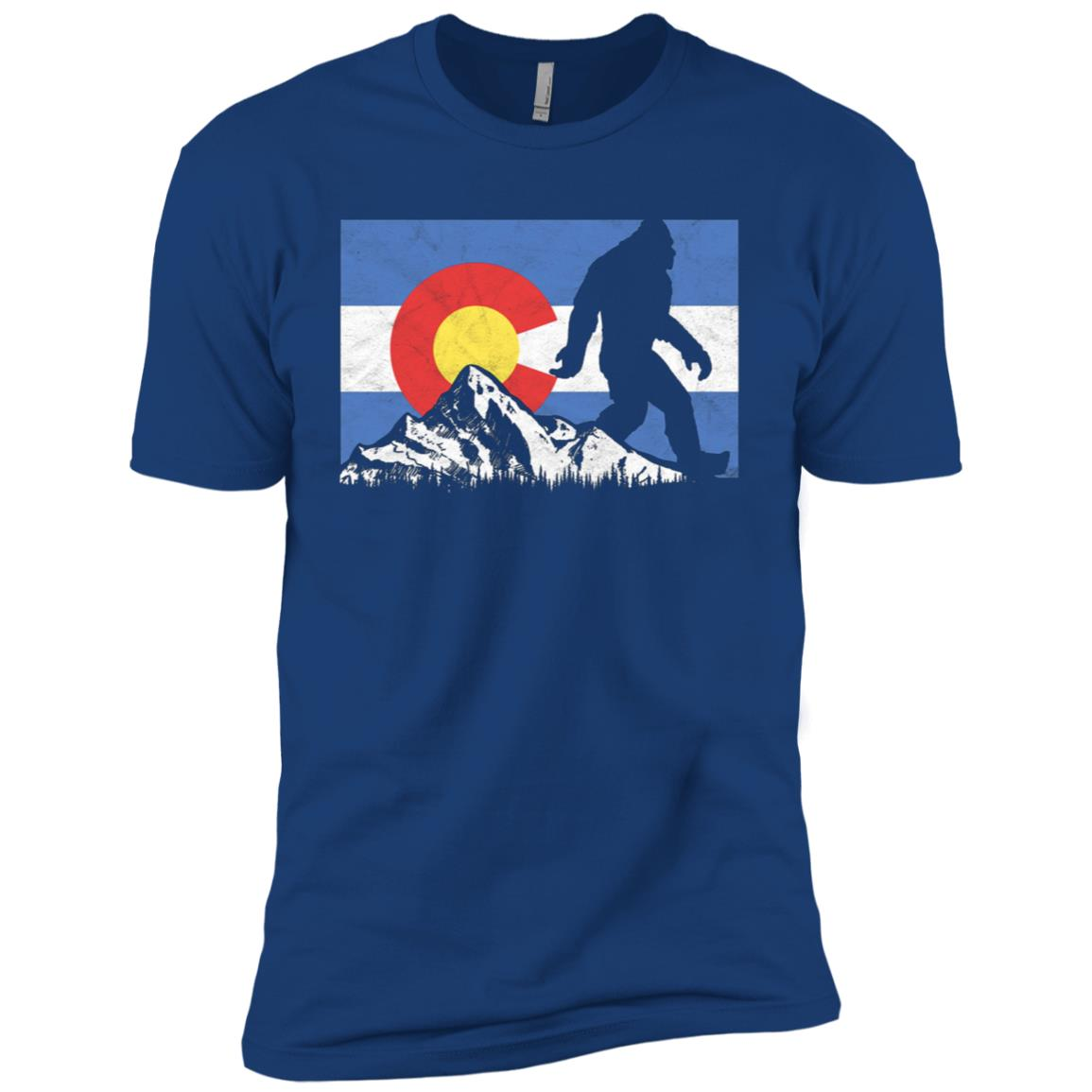 Bigfoot Rocky Mountains Colorado Flag -1 Men Short Sleeve T-Shirt